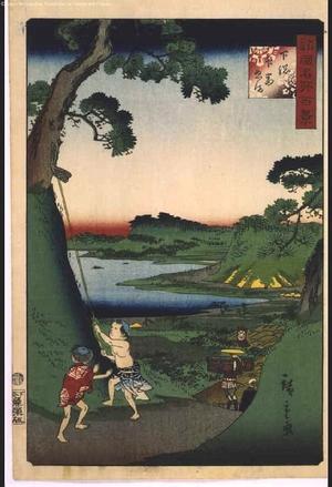 二歌川広重: One Hundred Views of Famous Places in the Provinces: Lake Inbanuma, Shimousa - 江戸東京博物館