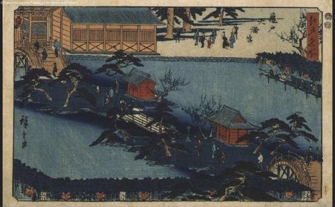 歌川広重: Famous Views of Edo: The Tenman Shrine in Kameido - 江戸東京博物館