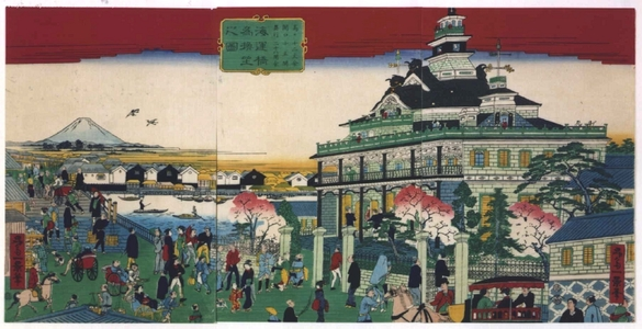 Ikkei: The Bank Near Navy Bridge - Edo Tokyo Museum