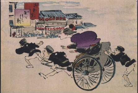 小林清親: Tokyo: A Swiftly Darting Rickshaw - 江戸東京博物館