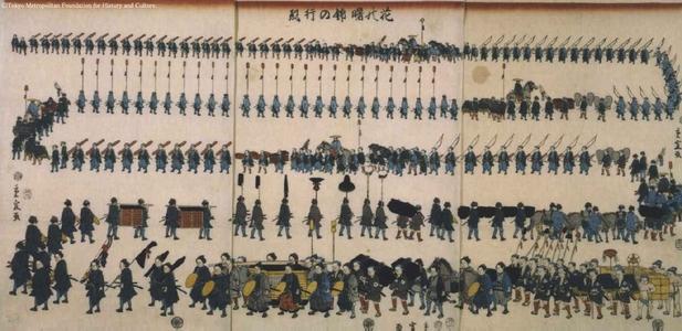 UTAGAWA Shigenobu: Spring Dawn: A Glorious Procession - Edo Tokyo Museum