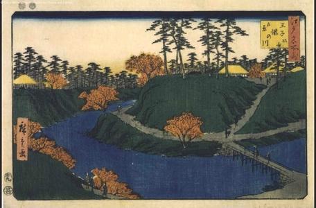 Utagawa Hiroshige: Famous Views of Edo: Autumn Foliage at Oji - Edo Tokyo Museum