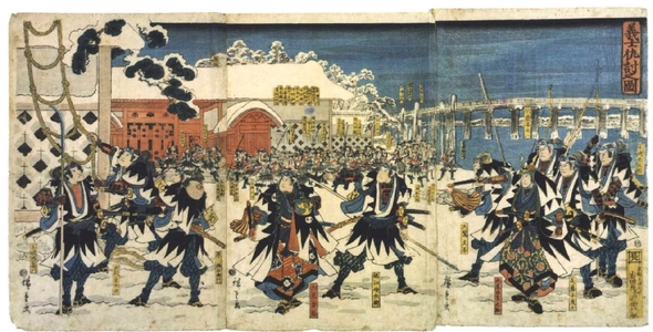 Utagawa Hiroshige: The Loyal Retainers Take Their Revenge, from Chushingura - Edo Tokyo Museum