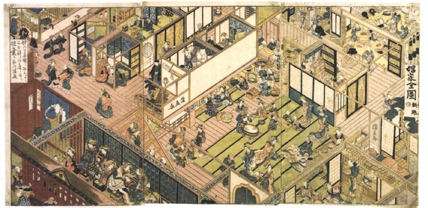 UTAGAWA Kuninao: A New View of a Brothel - Edo Tokyo Museum