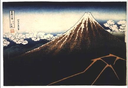 葛飾北斎: Thirty-six Views of Mt. Fuji: Thunderstorm Beneath the Summit - 江戸東京博物館
