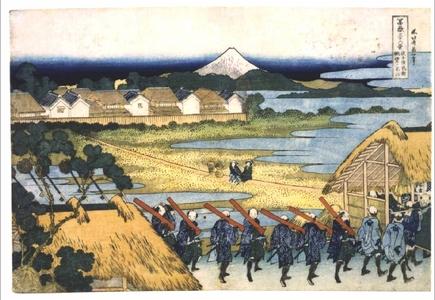 Katsushika Hokusai: Thirty-six Views of Mt. Fuji: Fuji from the Senju Pleasure Quarter - Edo Tokyo Museum