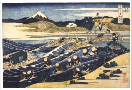 Katsushika Hokusai: Thirty-six Views of Mt. Fuji: Fuji from Kanaya on the Tokaido - Edo Tokyo Museum