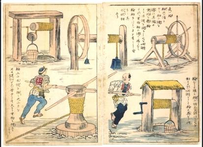 無款: Educational Prints: Winches - 江戸東京博物館