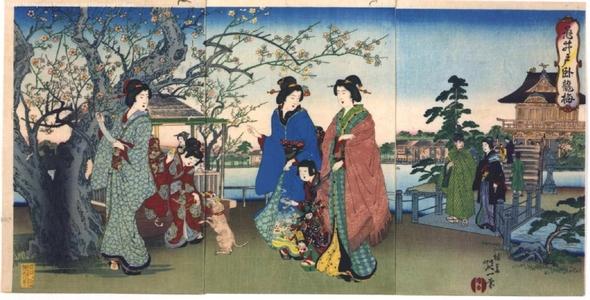 渡辺延一: Plum Trees in Kameido - 江戸東京博物館