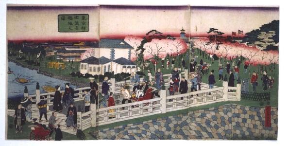 一景: Bustling Mansei Bridge in Kanda, Tokyo - 江戸東京博物館