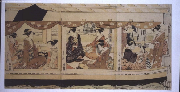 CYOBUNSAI Eishi: Boating on the Sumida River - Edo Tokyo Museum