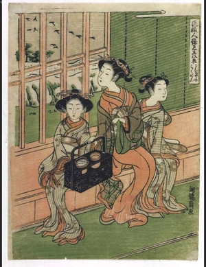 Isoda Koryusai: Eight Views of Elegant Persons: Descending Geese at Sancha - Edo Tokyo Museum
