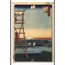 Utagawa Hiroshige: One Hundred Famous Views of Edo: Eko-in Temple in Ryogoku and Motoyanagibashi Bridge - Edo Tokyo Museum