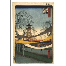 歌川広重: One Hundred Famous Views of Edo: Hatsune Riding Ground, Bakurocho - 江戸東京博物館