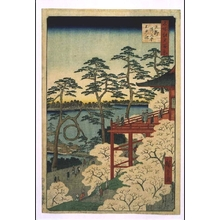Utagawa Hiroshige: One Hundred Famous Views of Edo: Kiyomizu-do Temple and Shinobazu Pond, Ueno - Edo Tokyo Museum