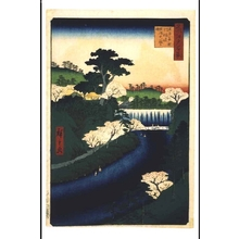 Utagawa Hiroshige: One Hundred Famous Views of Edo: Dam on the Otonashigawa River, Popularly Known as the Great Waterfall - Edo Tokyo Museum