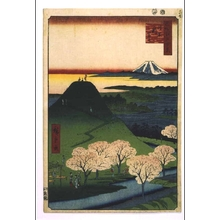 歌川広重: One Hundred Famous Views of Edo: The 'New Fuji' in Meguro - 江戸東京博物館