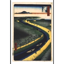歌川広重: One Hundred Famous Views of Edo: Towboats on the Yotsugi Road Canal - 江戸東京博物館