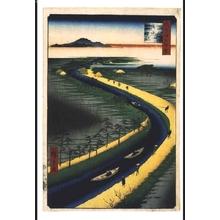 Utagawa Hiroshige: One Hundred Famous Views of Edo: Towboats on the Yotsugi Road Canal - Edo Tokyo Museum