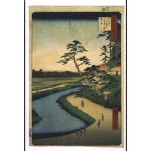 歌川広重: One Hundred Famous Views of Edo: The Poet Basho's Hermitage on Camellia Hill beside the Aqueduct at Sekiguchi - 江戸東京博物館