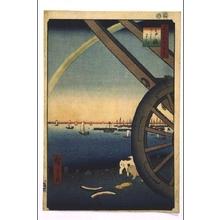 歌川広重: One Hundred Famous Views of Edo: Ushimachi, Takanawa - 江戸東京博物館