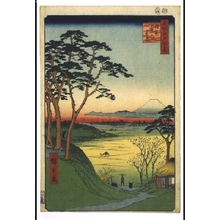 Utagawa Hiroshige: One Hundred Famous Views of Edo: The Old Man's Tea house at Meguro - Edo Tokyo Museum