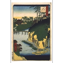 歌川広重: One Hundred Famous Views of Edo: The 'River of Waterfalls', Oji - 江戸東京博物館