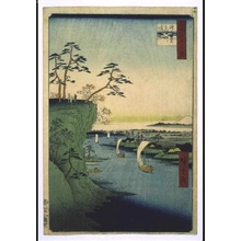 歌川広重: One Hundred Famous Views of Edo: Konodai and the Tonegawa River - 江戸東京博物館