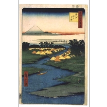 歌川広重: One Hundred Famous Views of Edo: Fishing Village of Nekozane at Horie - 江戸東京博物館