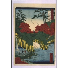 Ikkei: Forty-Eight Famous Views of Tokyo: 'River of Waterfalls, Oji - Edo Tokyo Museum