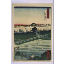 Ikkei: Forty-Eight Famous Views of Tokyo: Mimeguri Shrine with Distant View of Matsuchiyama Hill - Edo Tokyo Museum