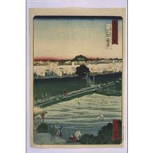 一景: Forty-Eight Famous Views of Tokyo: Mimeguri Shrine with Distant View of Matsuchiyama Hill - 江戸東京博物館