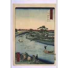 Ikkei: Forty-Eight Famous Views of Tokyo: Gohonmatsu Pine at Onagigawa River - Edo Tokyo Museum