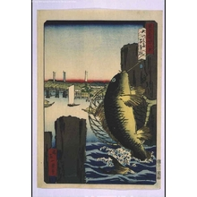 Ikkei: Forty-Eight Famous Views of Tokyo: The One Hundred Piles by Okawa River - Edo Tokyo Museum