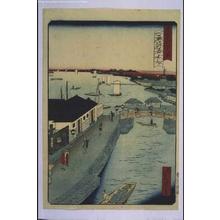 Ikkei: Forty-Eight Famous Views of Tokyo: Akashibashi Bridge, Tsukiji - Edo Tokyo Museum