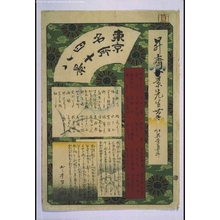 一景: Forty-Eight Famous Views of Tokyo: Title Page - 江戸東京博物館