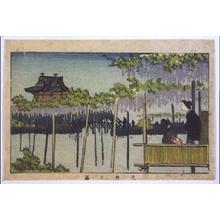 井上安治: True Pictures of Famous Places in Tokyo: Wisteria at Kameido - 江戸東京博物館