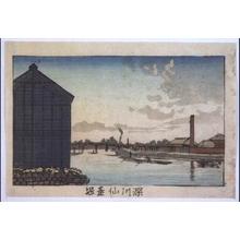 Inoue Yasuji: True Pictures of Famous Places in Tokyo: Sendai Canal, Fukagawa - Edo Tokyo Museum