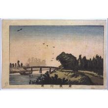 Inoue Yasuji: True Pictures of Famous Places in Tokyo: Morning View of Ayasegawa River - Edo Tokyo Museum