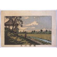 Inoue Yasuji: True Pictures of Famous Places in Tokyo: Sumidagawa River Bank - Edo Tokyo Museum