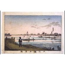 井上安治: True Pictures of Famous Places in Tokyo: Ishiwarabashi Bridge on Okawa River - 江戸東京博物館