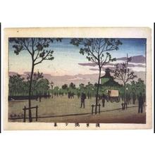 Inoue Yasuji: True Pictures of Famous Places in Tokyo: View from Asakusabashi Bridge at Sunset - Edo Tokyo Museum