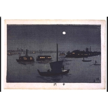Inoue Yasuji: True Pictures of Famous Places in Tokyo: The Nakasu Sandbar - Edo Tokyo Museum