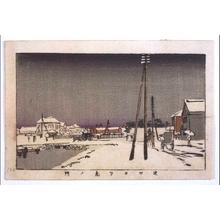 Inoue Yasuji: True Pictures of Famous Places in Tokyo: View of Toranomon from Shibakuchi - Edo Tokyo Museum