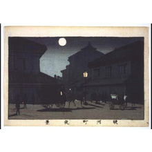 井上安治: True Pictures of Famous Places in Tokyo: Night View of Surugacho - 江戸東京博物館