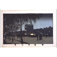 Inoue Yasuji: True Pictures of Famous Places in Tokyo: Night View of Sujikai Street - Edo Tokyo Museum