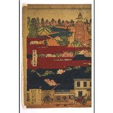 UTAGAWA Shigekiyo: Distant View of Asakusa Kanzeon Temple, the Park, and the Construction of Brick Buildings in this Newly Prosperous Area - Edo Tokyo Museum