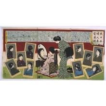 安達吟光: Illustrations of Western Hairstyles for Japanese Women - 江戸東京博物館