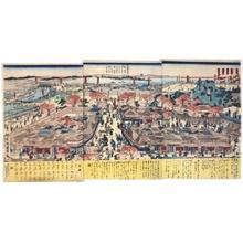 歌川国輝: View of Teppozu and Tsukiji, Tokyo - 江戸東京博物館