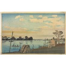 小林清親: Fujimi Ferry on Okawa River - 江戸東京博物館